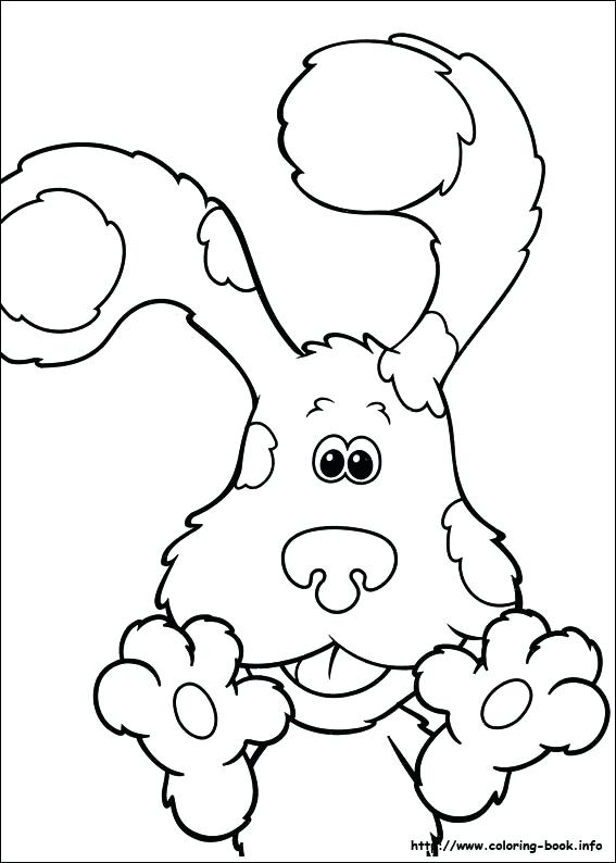567x794 Blues Clue Paw Print Blues Clues Salt And Pepper Coloring Pages