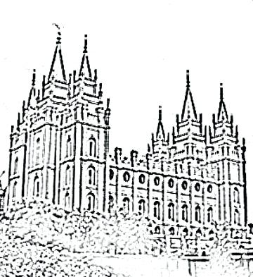 360x393 Lds Temple Coloring Pages Good Temple Coloring Pages