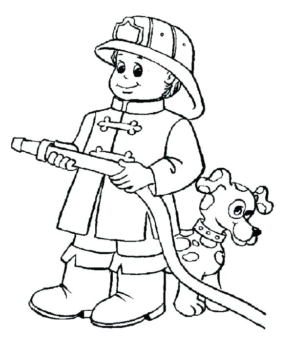 600x707 Fireman Sam Coloring Pages Fireman Coloring Book Together