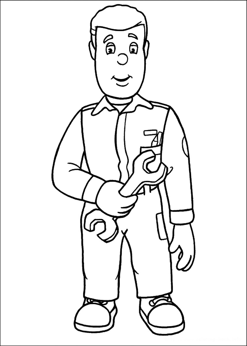 857x1200 Fireman Sam Coloring Pages