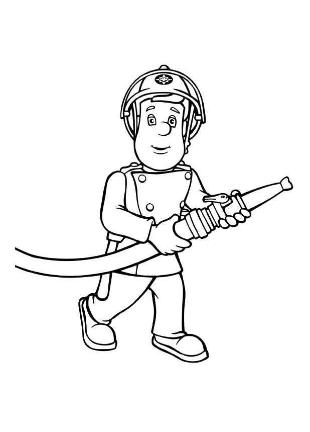 618x859 Fireman Sam To Color For Kids
