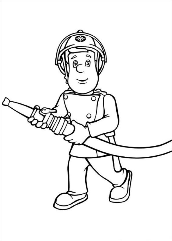 593x832 Kids N Coloring Pages Of Fireman Sam