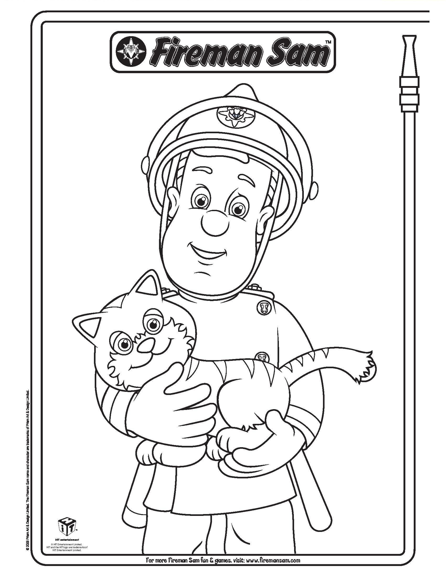 1700x2200 Original Fireman Sam Elvis Coloring Pages