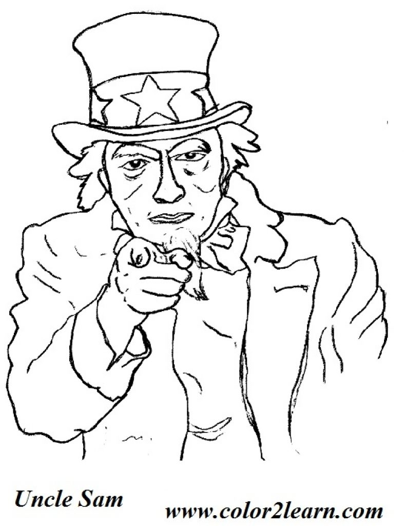 787x1024 Uncle Sam Coloring Pages