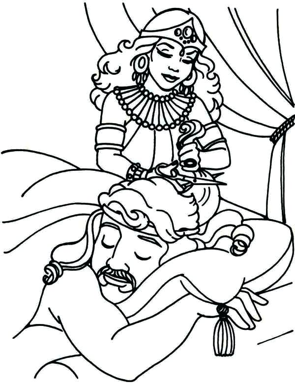 Samson And Delilah Coloring Page At Getdrawings Com Free For