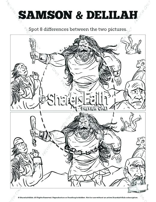 adult samson and delilah coloring pages coloring pages samson and ... | 673x520