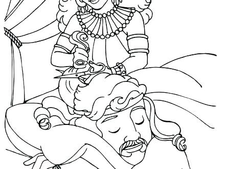 Samson Bible Coloring Pages at GetDrawings.com   Free for personal ...