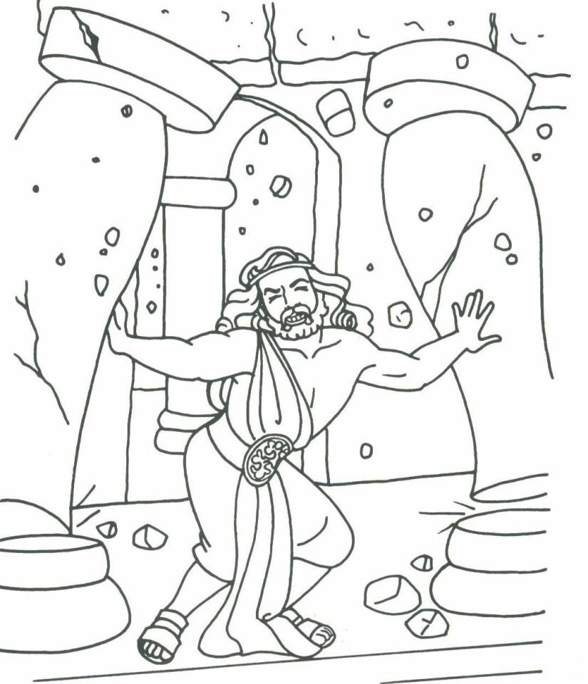Samson Coloring Page at GetDrawings.com   Free for personal use ...