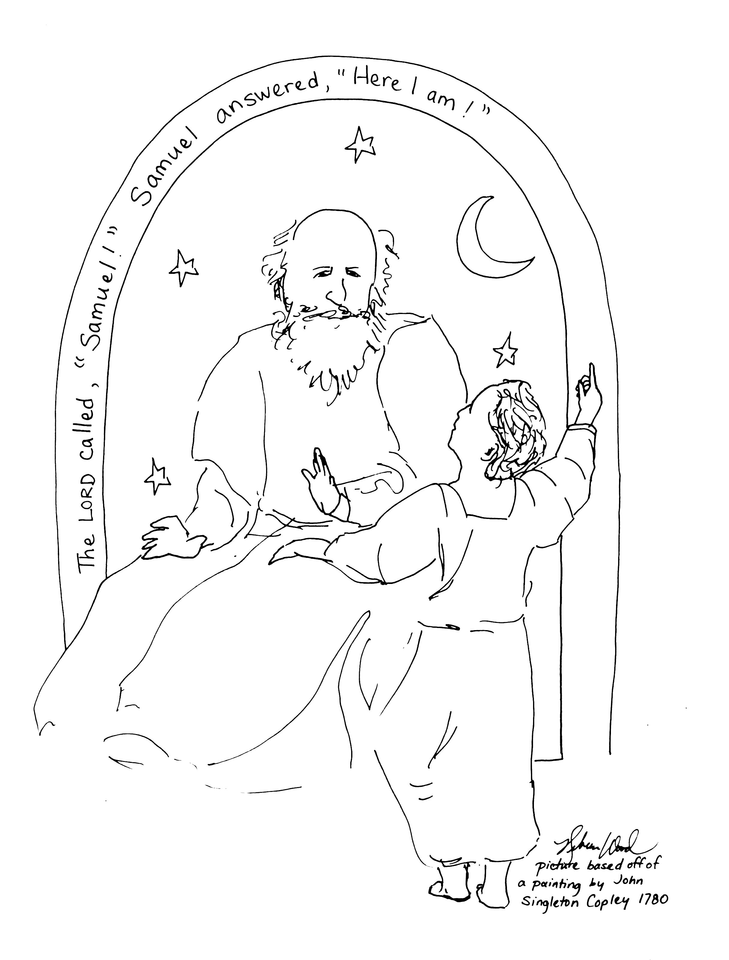 Samuel And Eli Coloring Page At Getdrawings Free Download