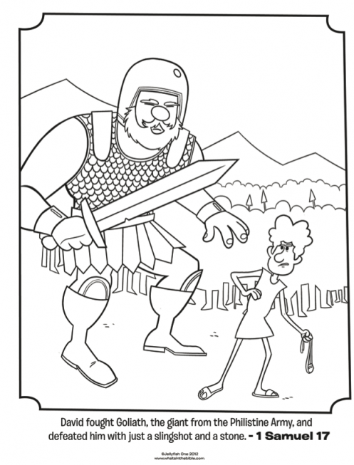 497x653 Kids Coloring Page From What's In The Bible Featuring David