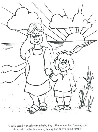 383x514 Hannah And Samuel Coloring Page Learn Bible Stories With Prayer Is