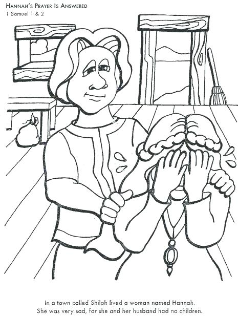 465x617 Hannah And Samuel Coloring Page Prayed For A Baby Coloring Page