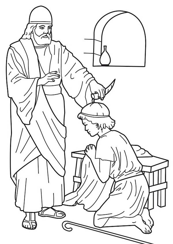 600x848 Samuel Anoints Saul Coloring Page Discipleland