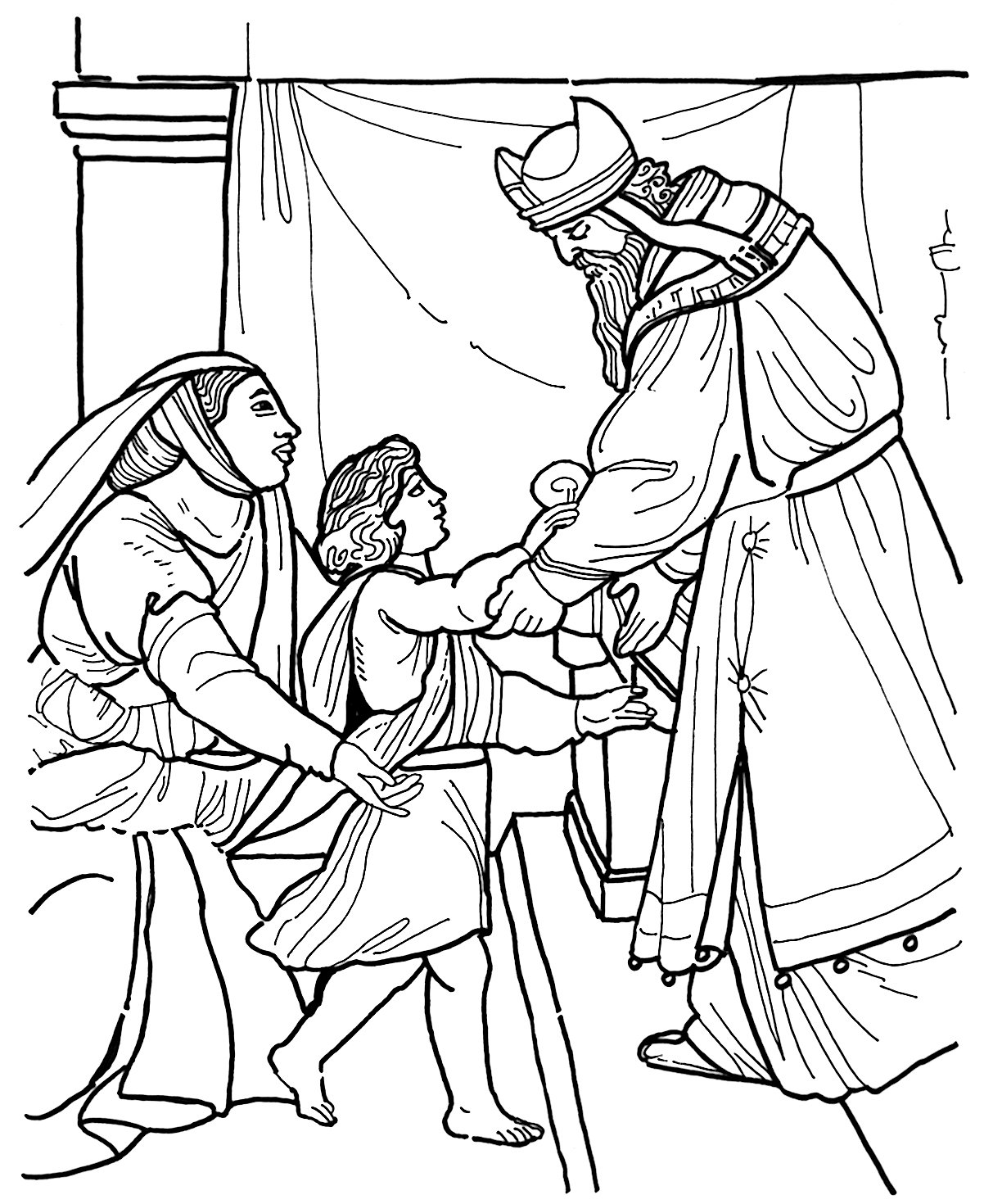1202x1470 Greatest Hannah And Samuel Coloring Page Linda Zaveson