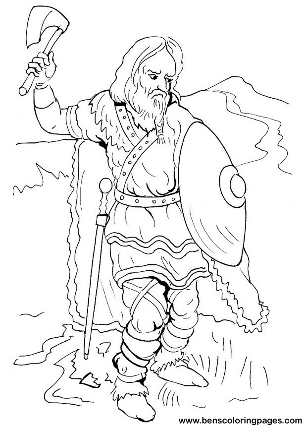 620x867 Warrior Coloring Pages