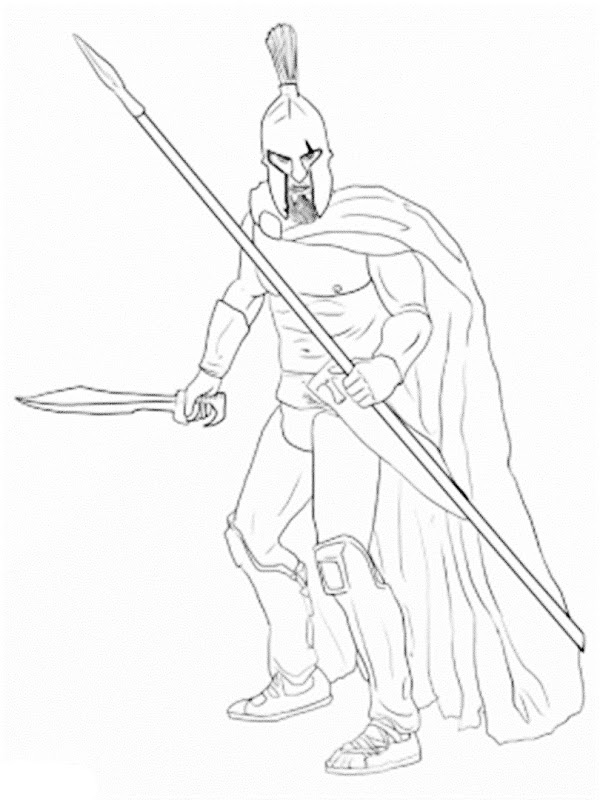 600x800 Warriors Coloring Pages Best Of Spartan Warrior Coloring Pages