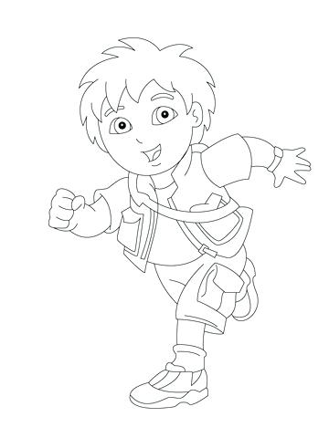 360x480 Diego Coloring Pages Backpack Transformed Into A Boat Juan Diego