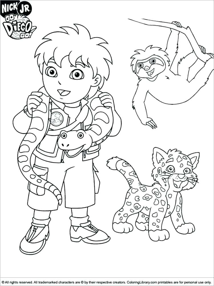 750x1000 Go Diego Go Coloring Pages Coloring Pages Pics Good Go Go Coloring