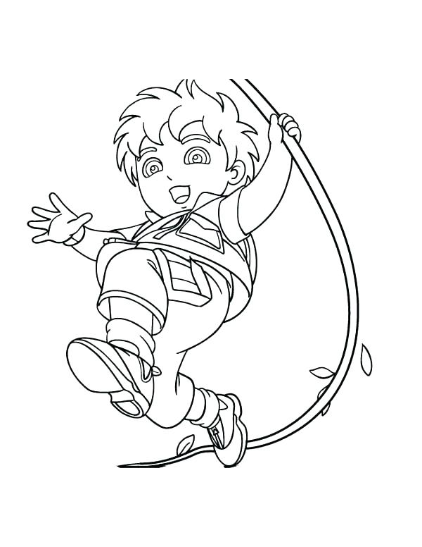 600x776 Go Diego Go Coloring Pages Go Coloring Pages Saves Animals In Page