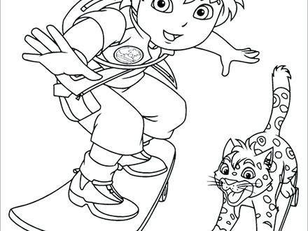 440x330 Go Diego Go Coloring Pages Go Go San Diego Chargers Coloring Pages