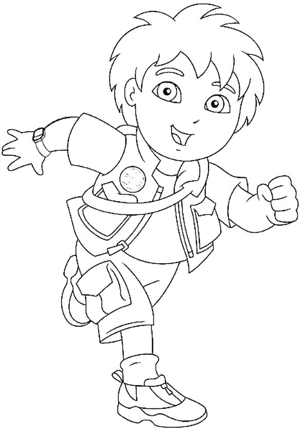 600x840 Diego Coloring Pages