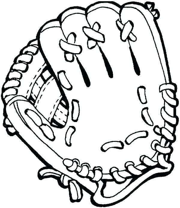 600x692 San Francisco Giants Baseball Coloring Pages Glove Page
