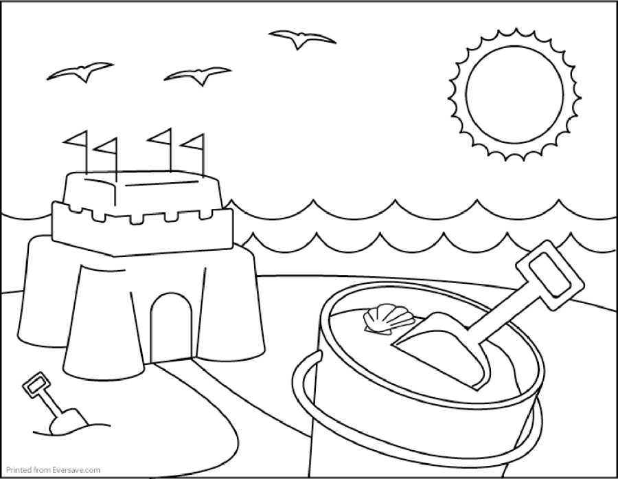 Sand Castle Coloring Pages To Print