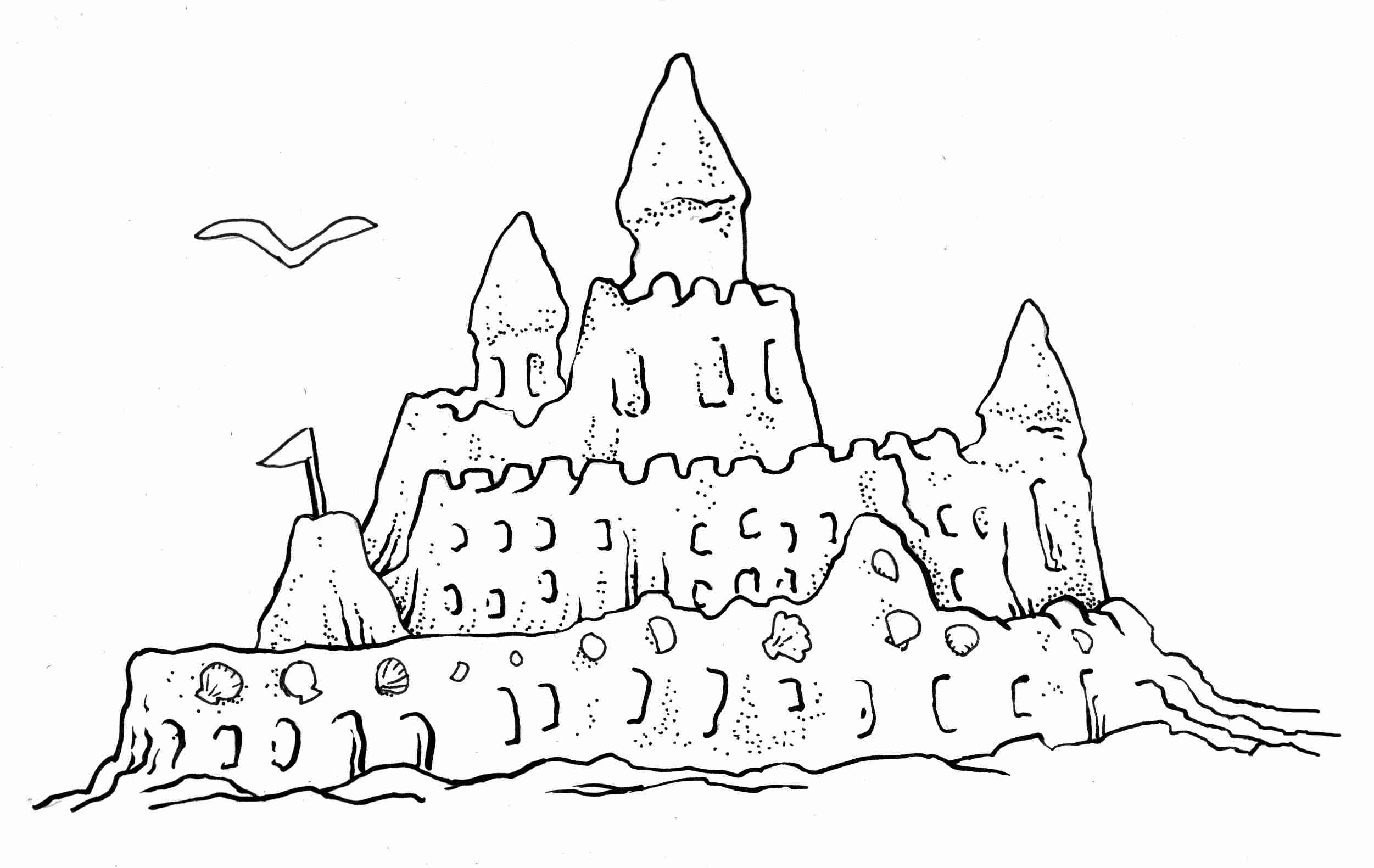 sand castle coloring pages to print 16