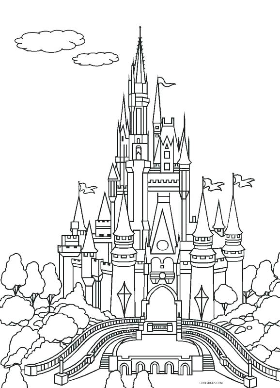 Sand Castle Coloring Pages To Print At Getdrawings Com Free For