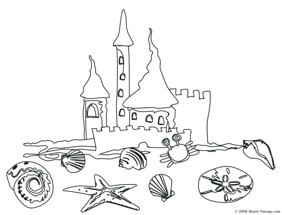 940x715 Sand Coloring Sand Castle On The Beach Coloring Page Coloring