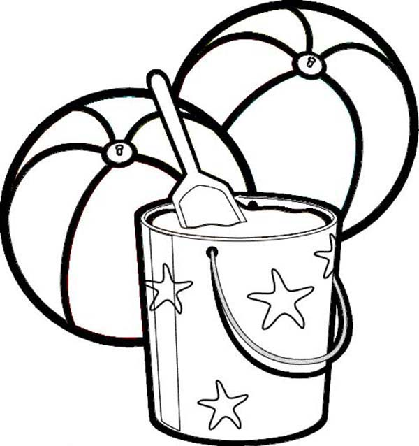 600x638 Coloring Pages Shells And Sand Dollars Sand Bucket Coloring Page