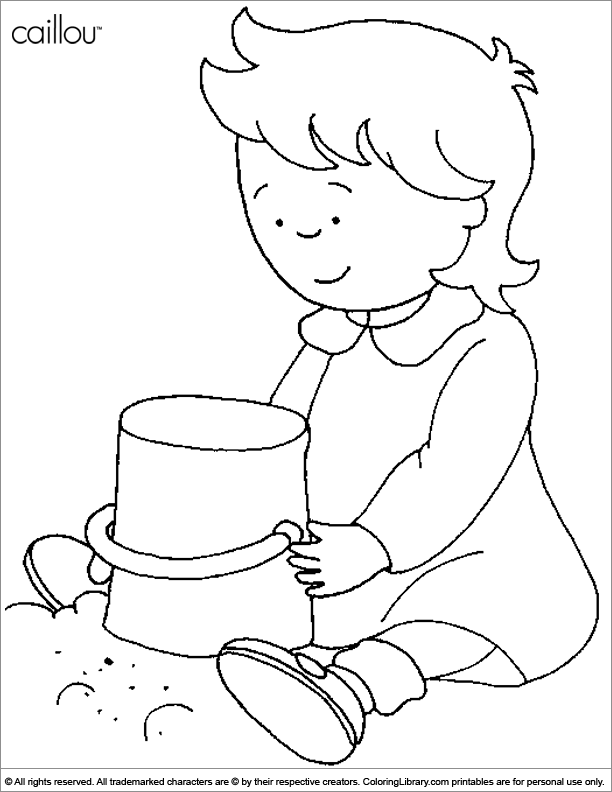 612x792 Girl Rosie In A Sandbox Coloring Page