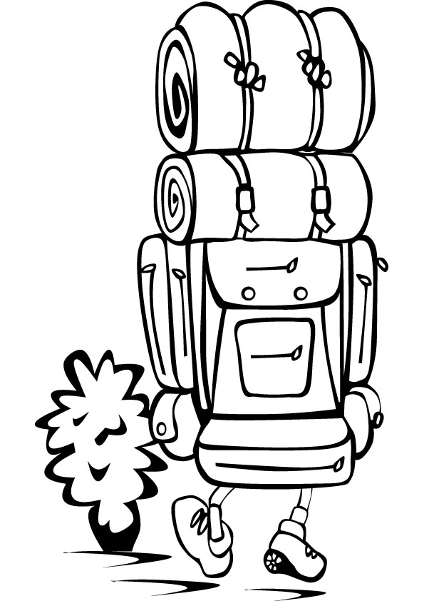 595x842 Back Packer Coloring Picture