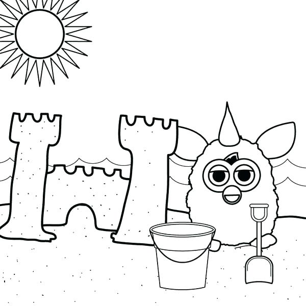 600x600 Sand Coloring Sand Castle On The Beach Coloring Page Sandbox