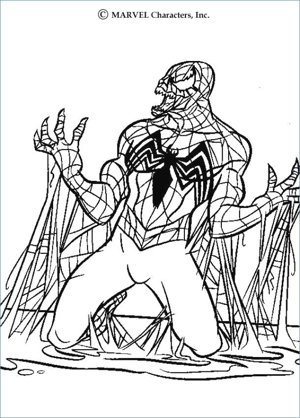 610x850 Spiderman Kick Sandman Spiderman Coloring Page