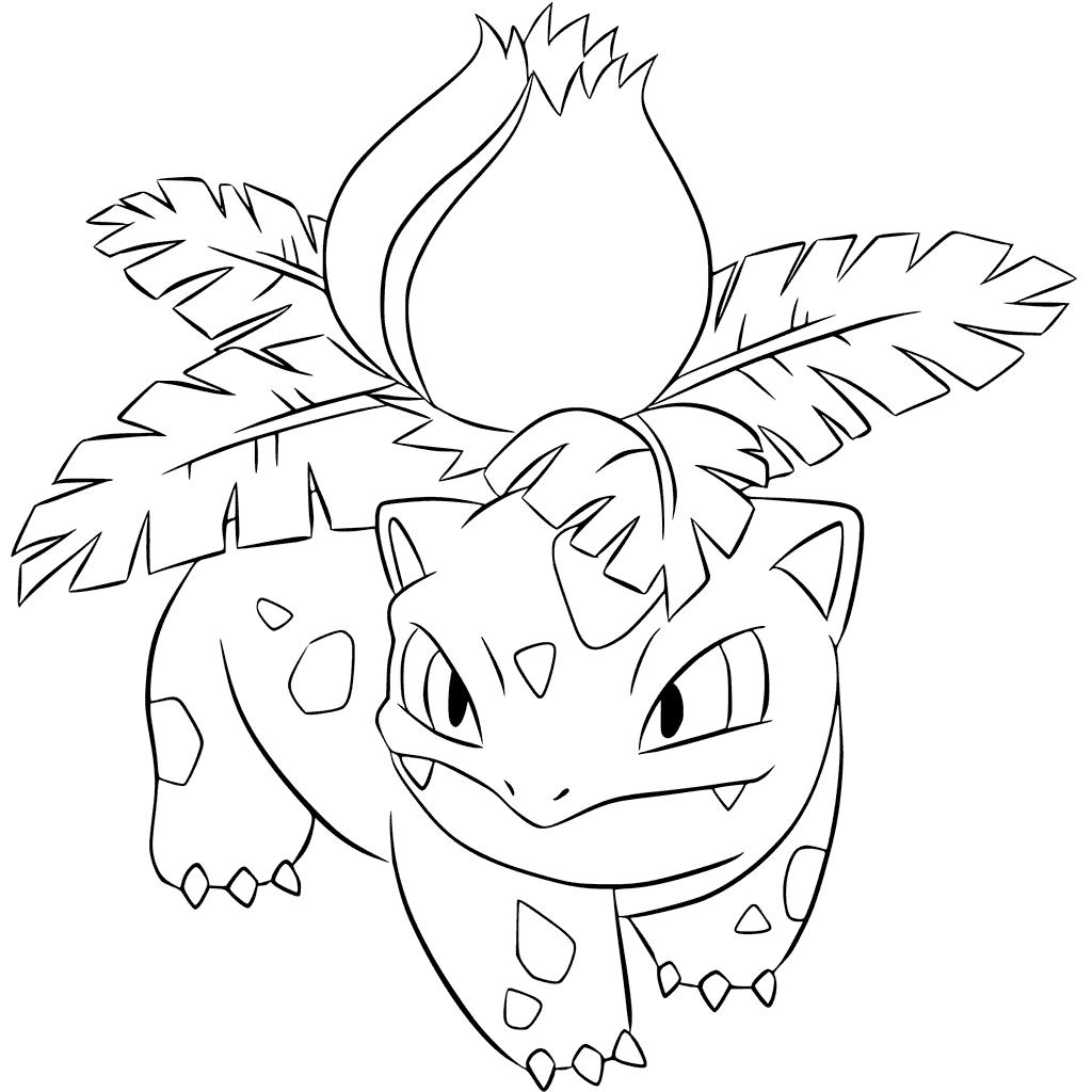 1024x1024 Ivysaur Pokemon Outline Coloring