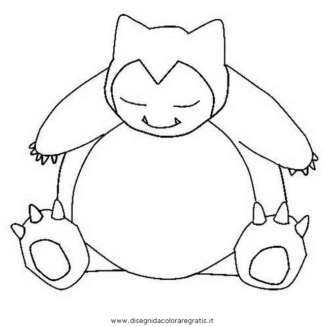640x644 Pokemon Snorlax Coloring Pages