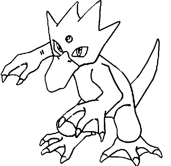 563x547 Sandshrew Pokemon Coloring Page