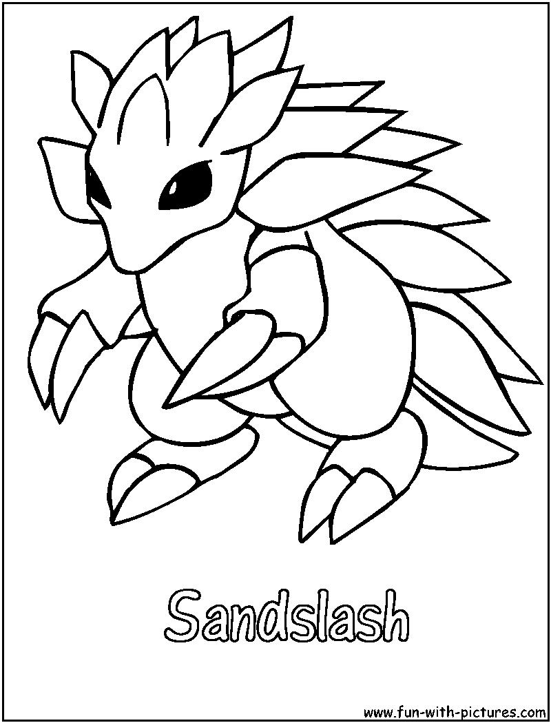 800x1050 Sandslash Coloring Page