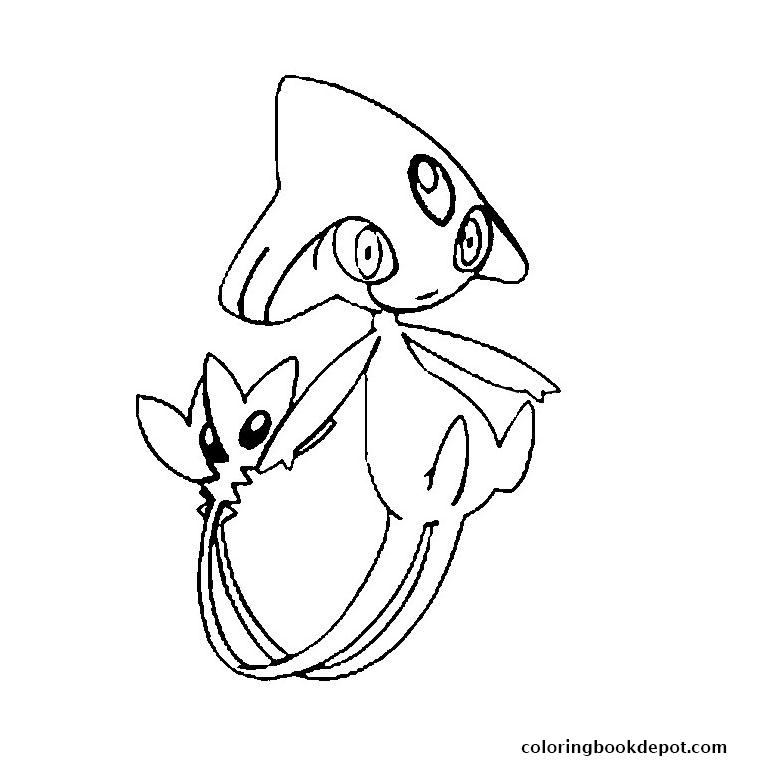 760x760 Pokemon Crefadet Coloring Pages