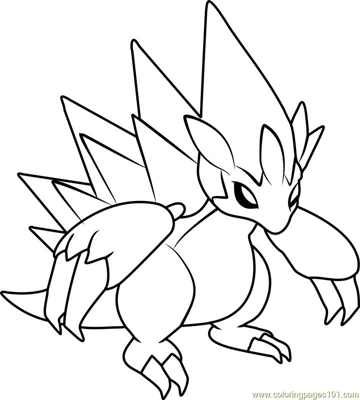 721x800 Alola Sandslash Pokemon Sun And Moon Coloring Page