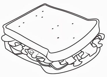 Sandwich Coloring Page