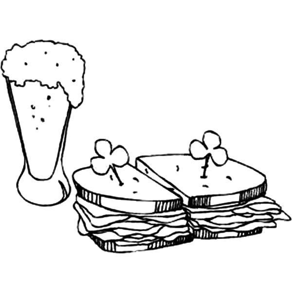 Sandwich Coloring Page At Getdrawings Com Free For Personal Use