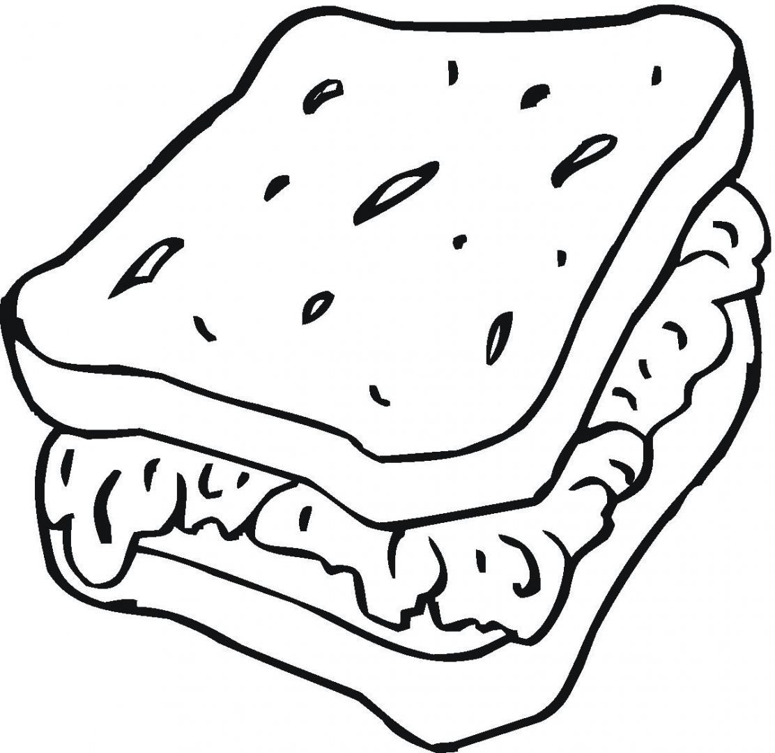 1112x1080 Best Friends Sandwich Coloring Page Food Pages Free Kids Sam
