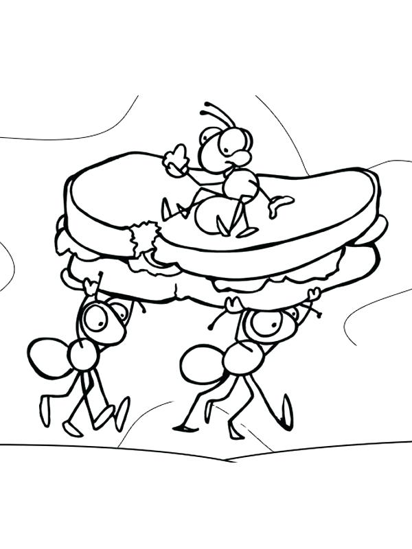 600x800 Coloring Pages Of Ants Ant Coloring Page Ant Coloring Pages Click