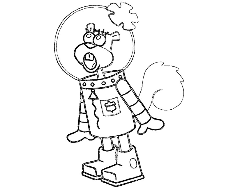 800x667 Sandy Cheeks Printable Coloring Pages