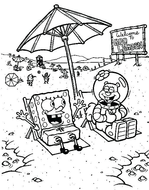 504x640 Sandy Cheeks Coloring Pages And Sandy On Beach Coloring Page Sandy