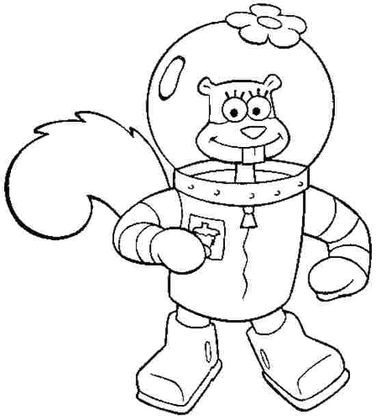 550x614 Sandy Cheeks Coloring Pages Sandy And Coloring Pages Sandy Cheeks