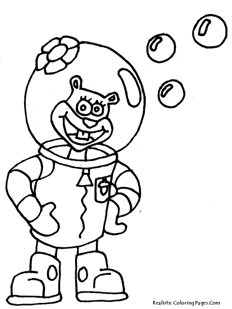 768x1024 Compromise Sandy Cheeks Coloring Pages Special