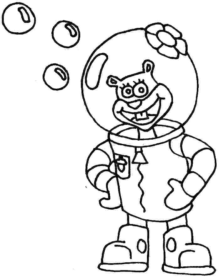 702x886 Sandy Cheeks Coloring Pages Surfing Coloring Pages Sandy Cheeks